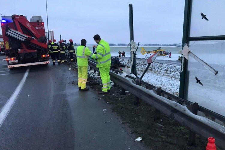 У Польщі загинув водій вантажівки на волинських номерах