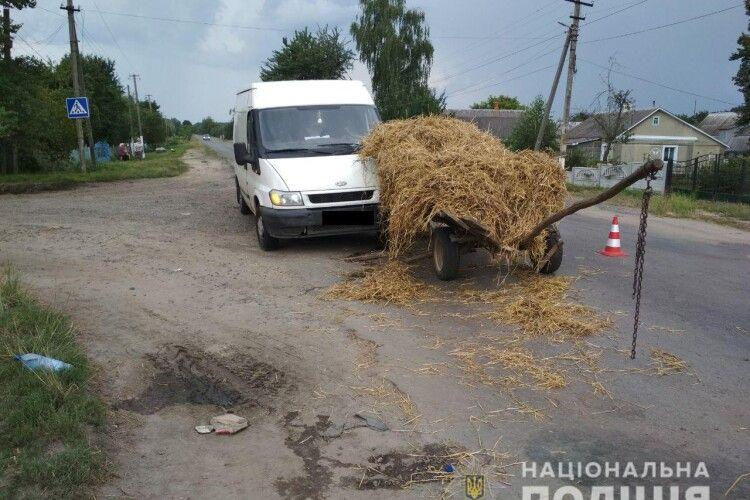 Трагедія на Рівненщині: «Ford Transit» влетів у підводу – їздовий впав на асфальт і розбив голову