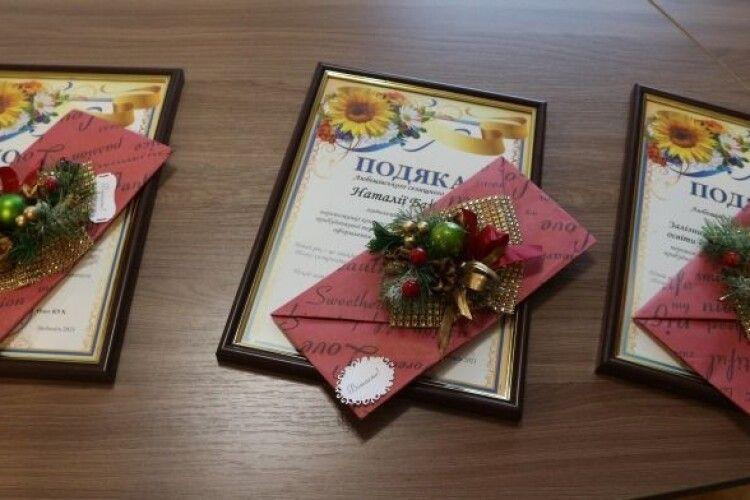 У громаді на Волині визначено переможців конкурсу на краще новорічне оформлення (Фото)