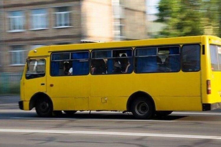 У Луцьку автомобіль влетів у маршрутку, є постраждалі (Відео)