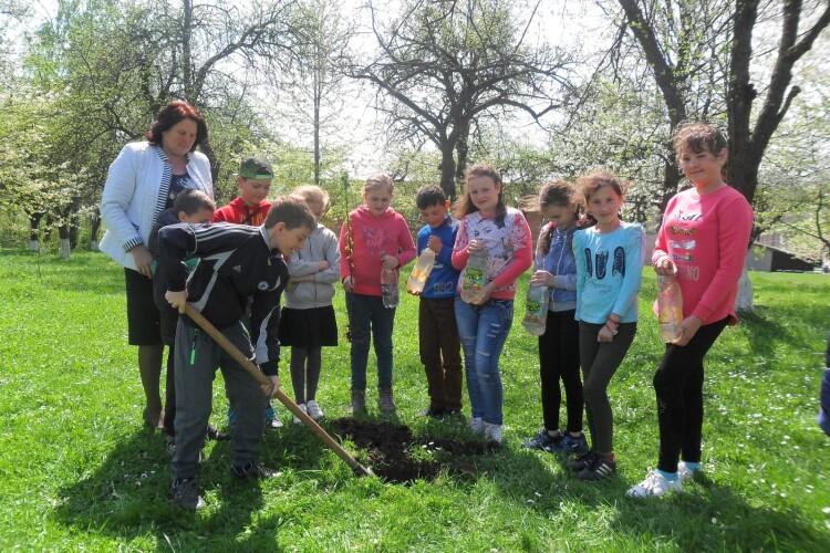 Сад ростиме  разом із учнями