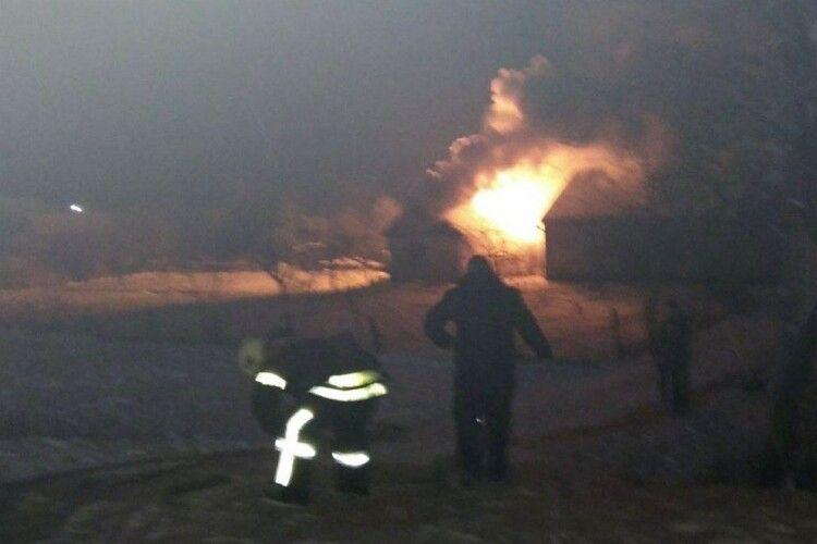 Вночі у Володимирі горів житловий будинок