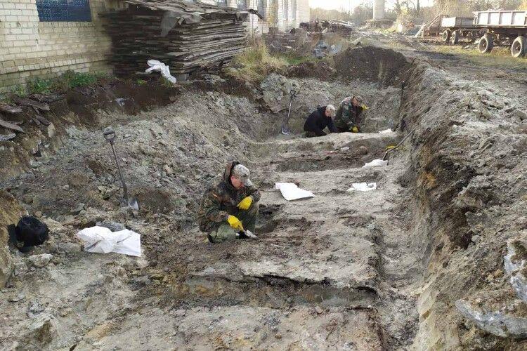 Під асфальтом знайшли поховання вояків УПА