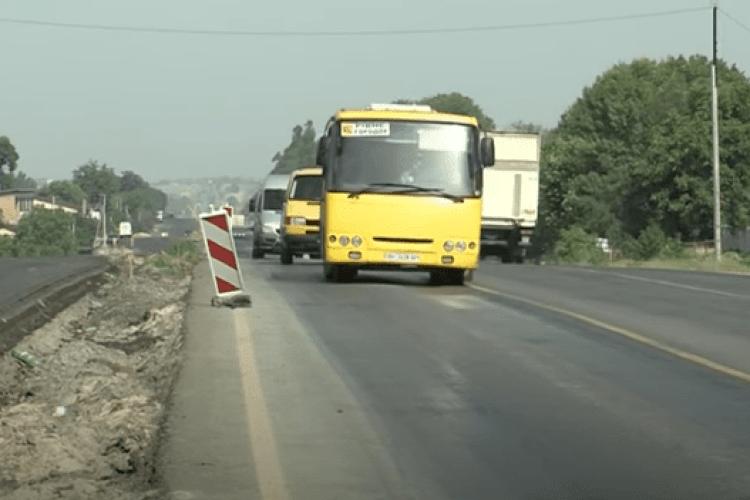 Ремонт дороги Рівне-Луцьк завершать до Дня Незалежності, але не відкриють (Відео)