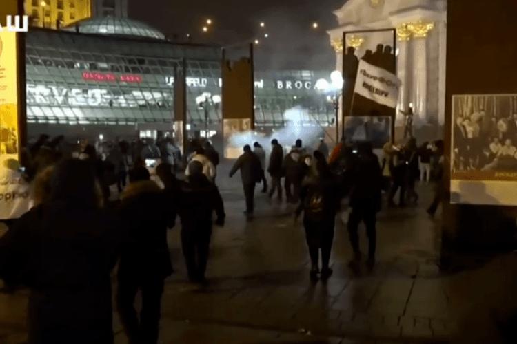 Орли Авакова вдалися до силового розгону наметового містечка підприємців на Майдані Незалежності
