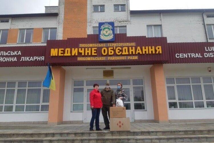 Любомльські медики отримали допомогу від благодійних фондів