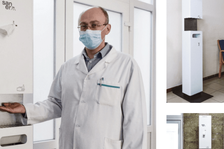 Меценати обладнали три лікарні на Волині автоматичними дезінфекційними станціями