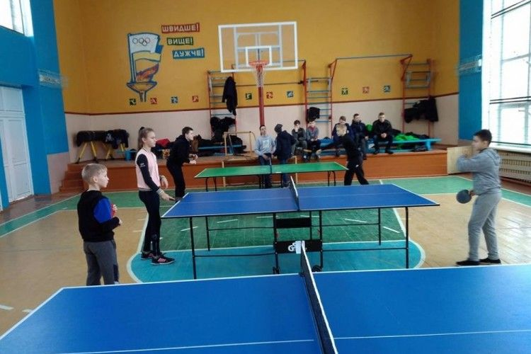 В Голобах - першість ОТГ з настільного тенісу