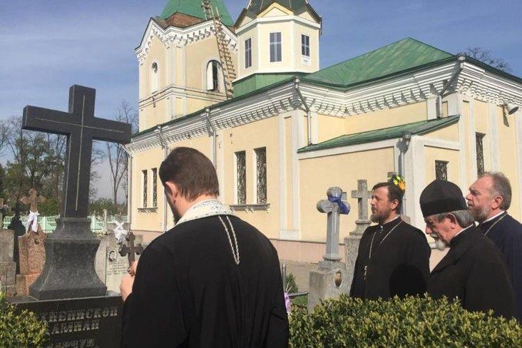 Відслужили заупокійну Літію на могилі архієпископа Волинського і Рівненського Даміана (Марчука)