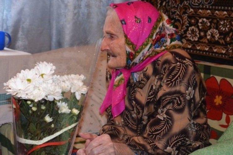 Столітній ювілей зустріла корінна жителька села Люб'язь Віра Павлючик