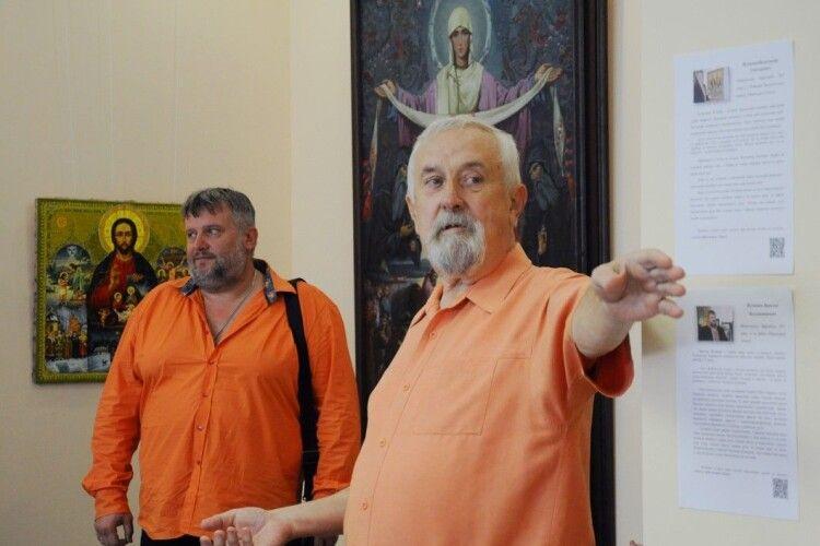 У Луцьку батько і син презентували художні роботи до Дня незалежності України (Фото)