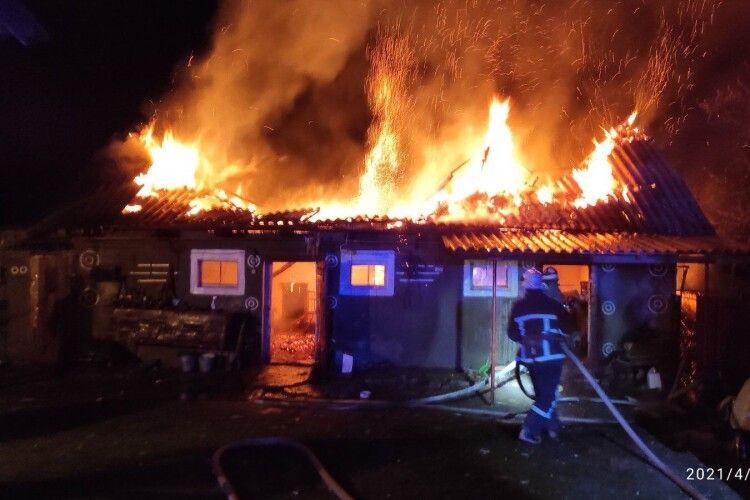 На Горохівщині вогонь наробив лиха на 120 тисяч гривень (Відео. Фото)