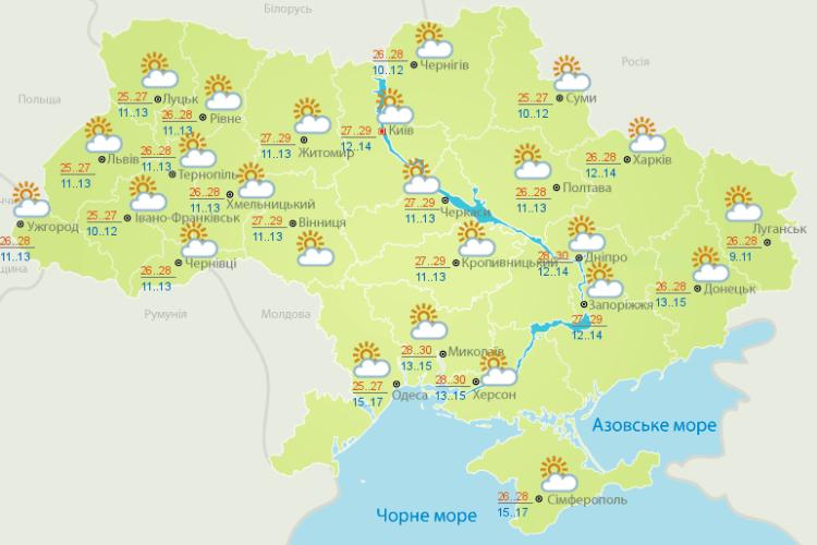 Погода: якою буде осінь, підкажуть журавлі (Карти гідрометеоцентру)