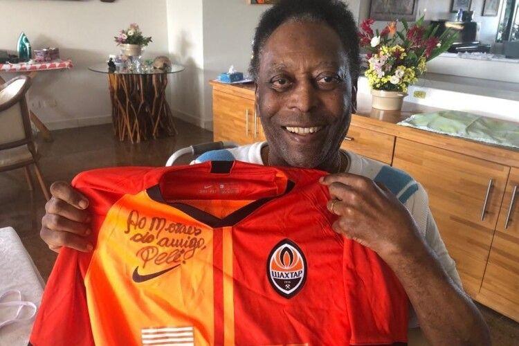 Легендарний Пеле у 80 років приміряв футболку «Шахтаря» (Відео)