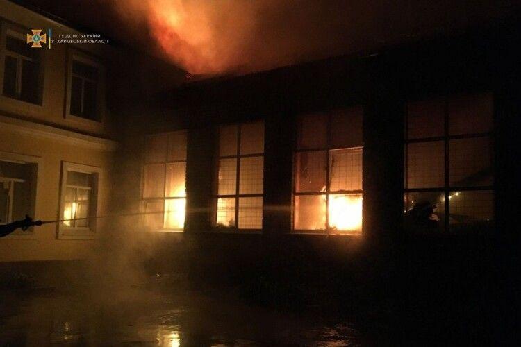 Пожежа в школі на Харківщині: вогонь гасили цілу ніч