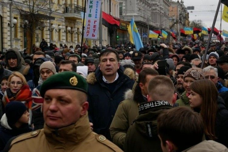 Саакашвілі зібрав у центрі столиці близько 10 тисяч прихильників