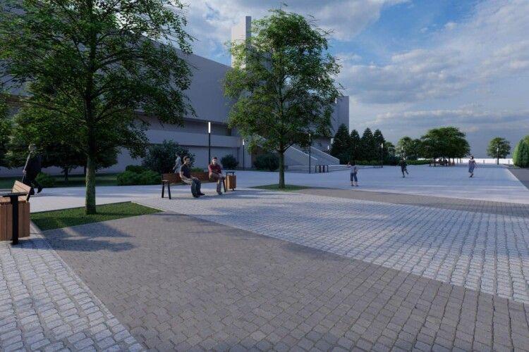 100 дерев і натуральний камінь: мер Луцька показав, як виглядатиме майдан перед рацсом після реконструкції (Фото)