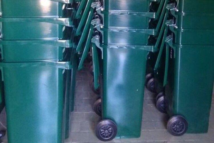 У Ківерцях закупили 260 контейнерів для сміття
