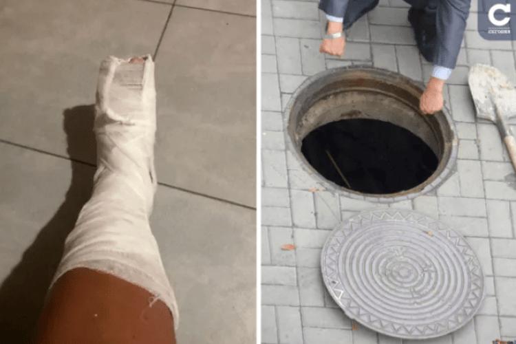 «Не пам'ятаю, скільки я там була»: відпочивальниця на прогулянці провалилася в люк із арматурою і сміттям