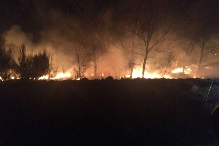 На Волині вогонь дійшов вже до села