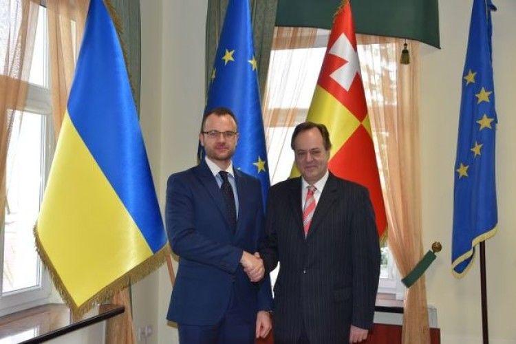 Виконувач повноважень міського голови Ігор Поліщук зустрівся із послом Хорватії в Україні Томіславом Відошевічем