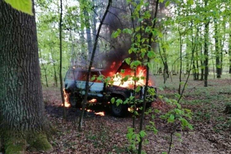 Крадії спалили автомобілі, завантажені деревиною