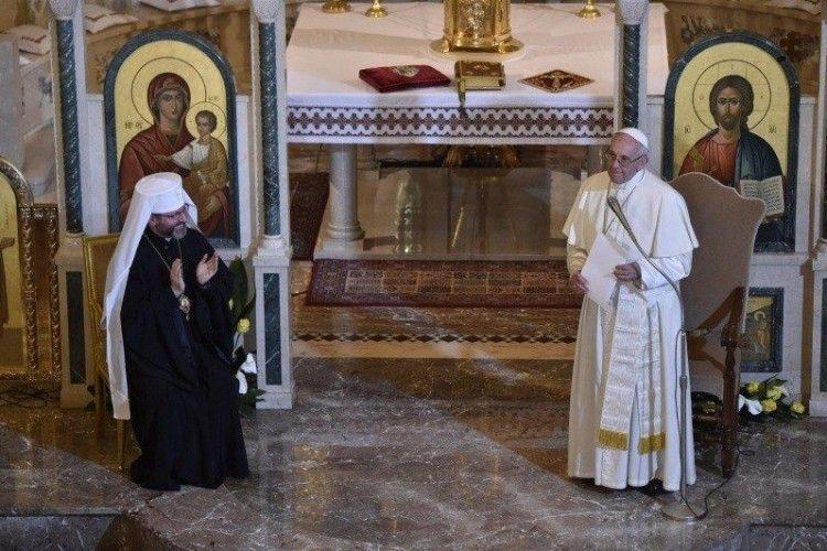 «Я прошу Всевишнього, щоб зброя замовкла», – Папа Римський на зустрічі з українцями