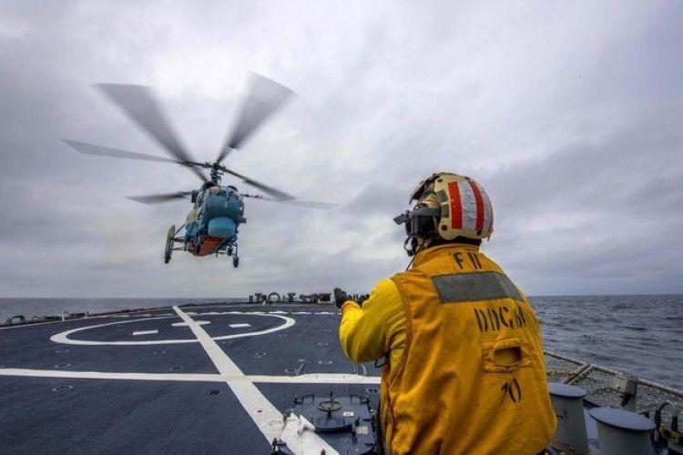 Українська морська авіація тренувались разом з кораблями НАТО