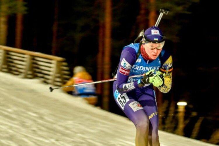 Українська біатлоністка Блашко фінішувала на 12-й позиції під час гонки переслідування в Контіолахті