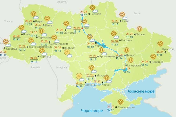 Погода: не осінь, а просто літо – до +27! (Карти гідрометеоцентру)