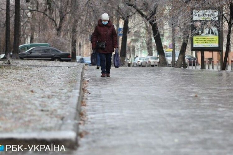 Через ожеледицю в Україні жовтий рівень небезпеки