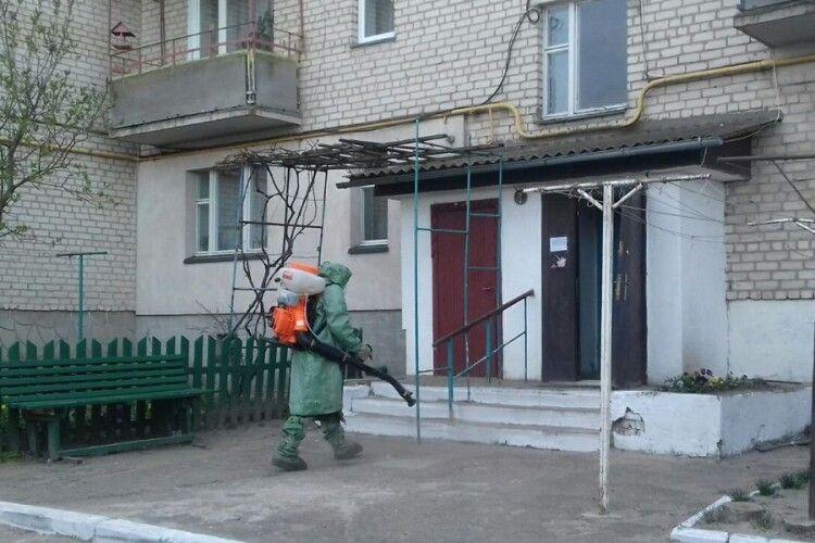 На Волині рятувальники провели санітарну обробку 27 об'єктів