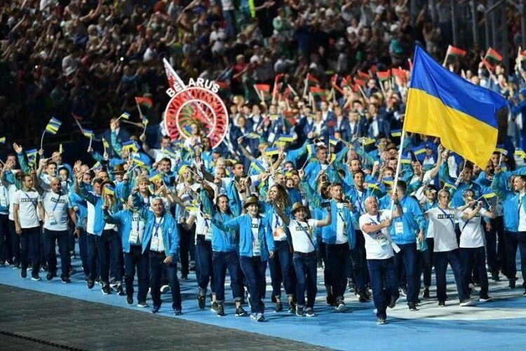 Збірну України бурхливими оваціями зустріли на Європейських іграх (Відео)