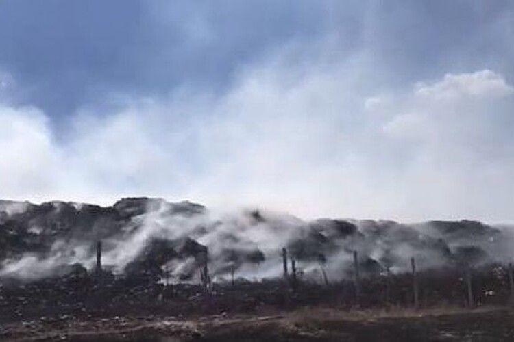 У Сєвєродонецьку лісова пожежа спричинила займання сміття на міському сміттєзвалищі
