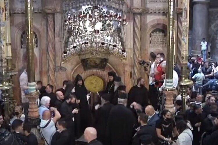 В Єрусалимі зійшов Благодатний вогонь напередодні Великодня