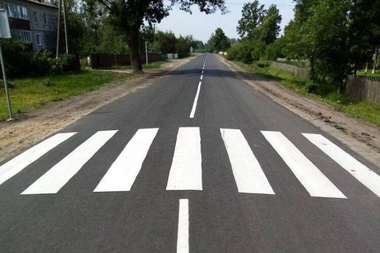 У Камінь-Каширському районі відремонтували дорогу до школи