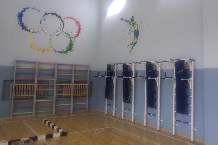 У селищі на Волині відремонтували спортзал