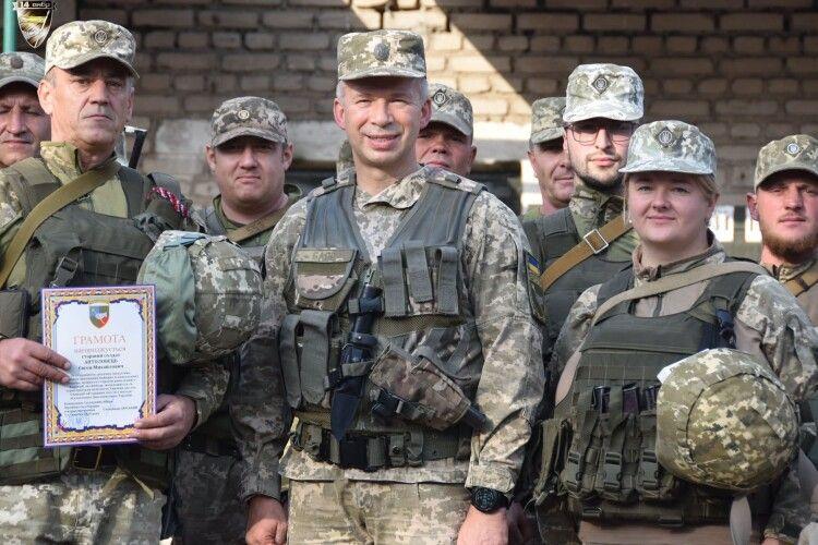 На передовій відзначили військових волинської бригади (Фото)