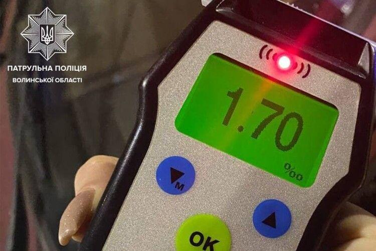 У центрі Луцька спіймали водія, у якого вміст алкоголю в крові у 9 разів перевищував норму (Фото)