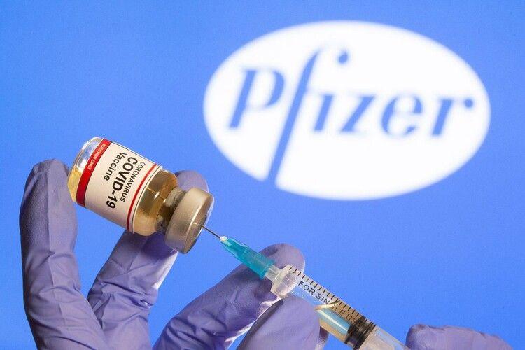 Україна одержала від США понад 188 тисяч доз вакцини Pfizer/BioNTech