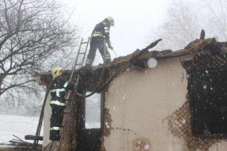 У селі через паління в одній хаті згоріло двоє людей