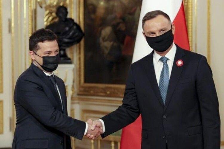 Польща за Україну в НАТО і в ЄС - Зеленський