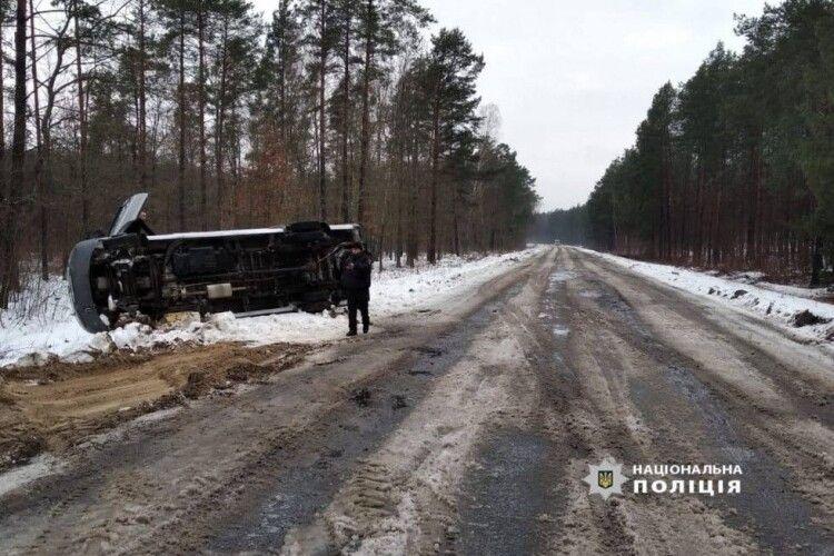 На Любешівщині в аварію потрапив водій рейсового автобусу