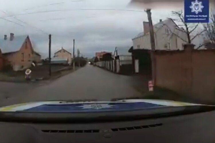 П'яний водій влаштував погоню з поліцією під Луцьком (Відео)