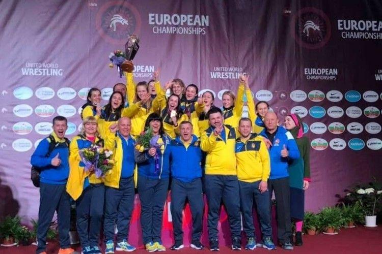 Українські борчині посіли на Чемпіонаті Європи перше командне місце