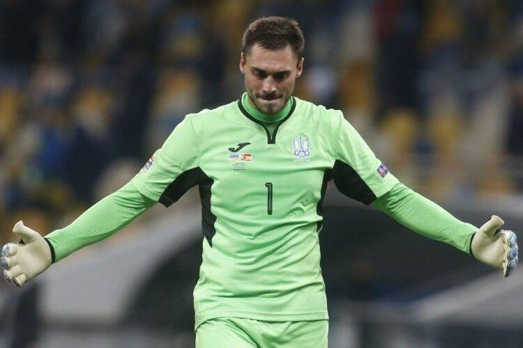 Бущан - в топ-5 воротарів Євро-2020 за кількістю відбитих ударів