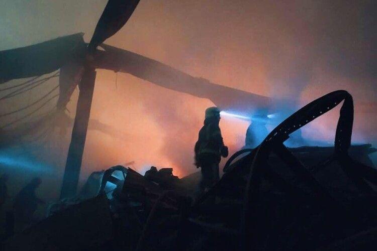 Масштабну пожежу в «Епіцентрі» на Миколаївщині загасили (Фото)