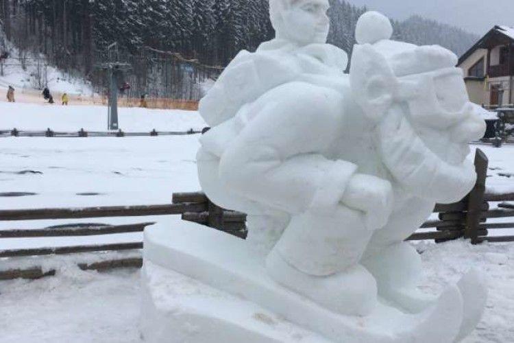 У Буковелі відбувся 7-ий фестиваль снігових скульптур
