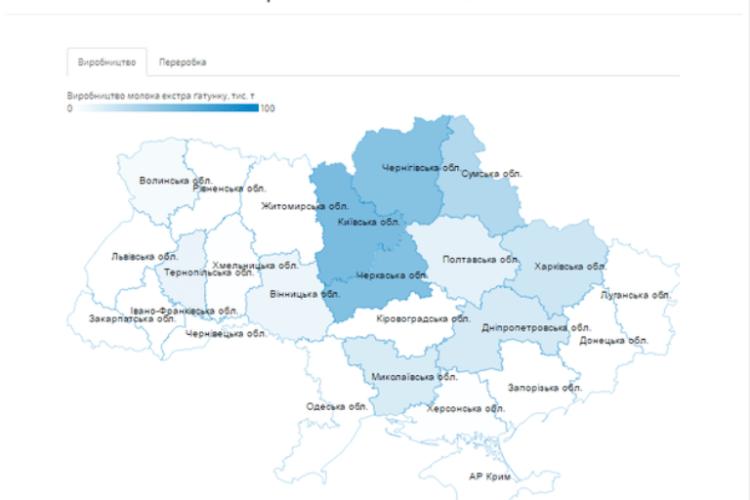 У Західній Україні лише Волинь та Тернопільщина виробляють молоко екстра-класу (карта)