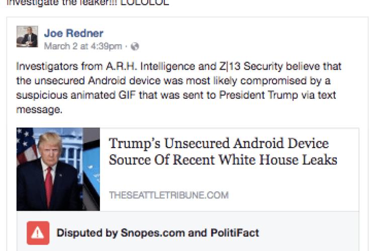 Facebook почав робити позначки на фейкових новинах